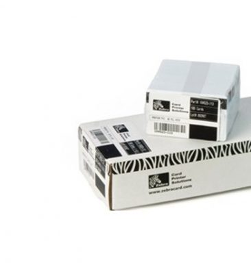 ZEBRA PVC CARDS, 300 MIL PVC, 500/BOX /104523111